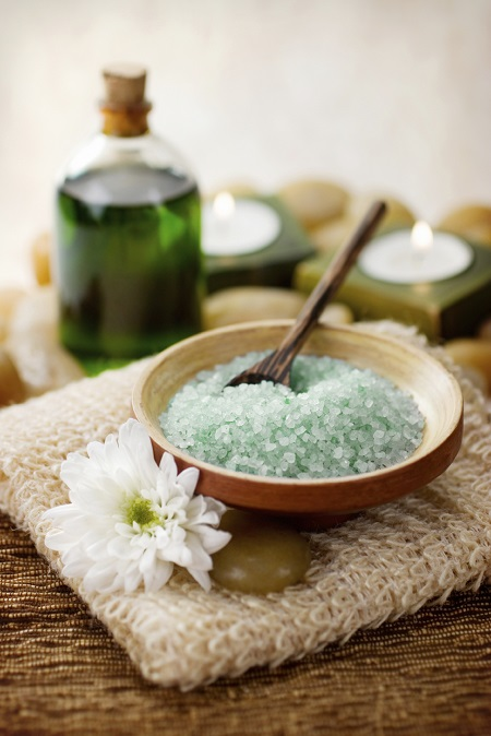 Spa Mineral Salts and Candles