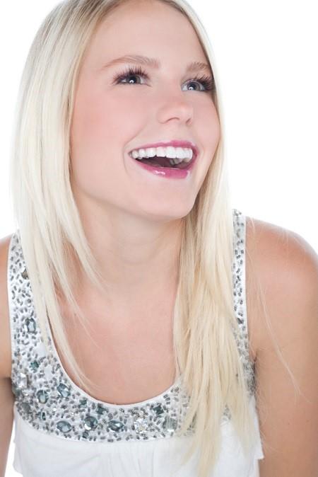 Beautiful blonde teenage girl beauty treatment